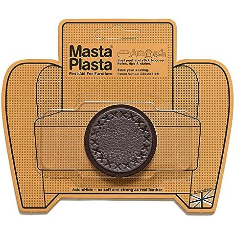 Reparación Cuero, Polipiel y Skai - Parches Adhesivos - MastaPlasta - Circulo Pequeño (50mm) (Marrón
