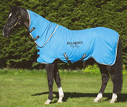 Horseware Rambo Dry Rug Supreme - Blue/Black/White, Groesse:M