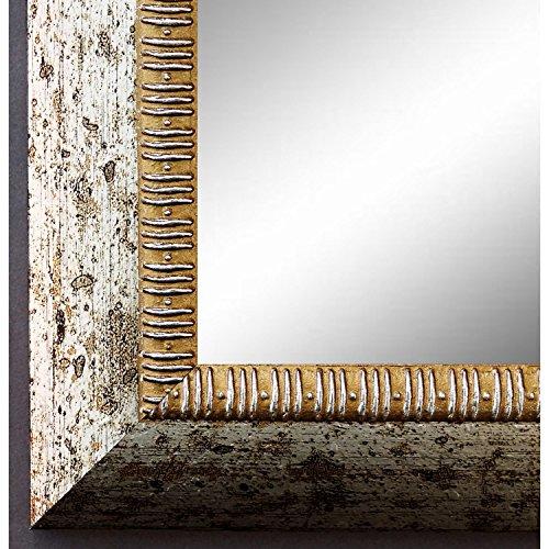 Espejo de pared Espejo Baño piso Espejo perchero Espejo–más de 200tamaños–Turin Plata 4,0, Medida exterior, dorado, 60 x 120