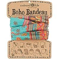 Natural Life Boho Bandeau - Bandana para mujer, color turquesa, talla M