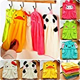 #8: Kuhu Creations® Supreme Coral Velvet Absorbent Cotton, Kids Cartoon Style Multipurpose Hand Towel. (Mix As per Availability 4 Units)