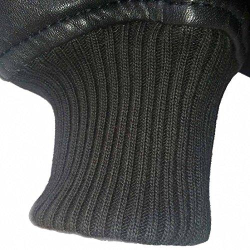 Alpha Industries MA-1 VF PM Leather ist eine Bomberjacke aus schwarzem Lammnappa Leder, ist komfortabel mit Multifunktionstasche starke Strickbündchen winddicht diagonale Aussentaschen neu original - 5