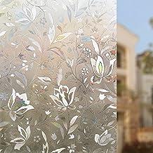 Rabbitgoo® Sin Pegamento 3D Vinilo de Ventana Pegatina Translúcida de Ventana Adherencia Electrostática Anti UV Vinilos Decorativos para Puertas de Cristal Vidriera Cocina Oficina Salón 90*200cm