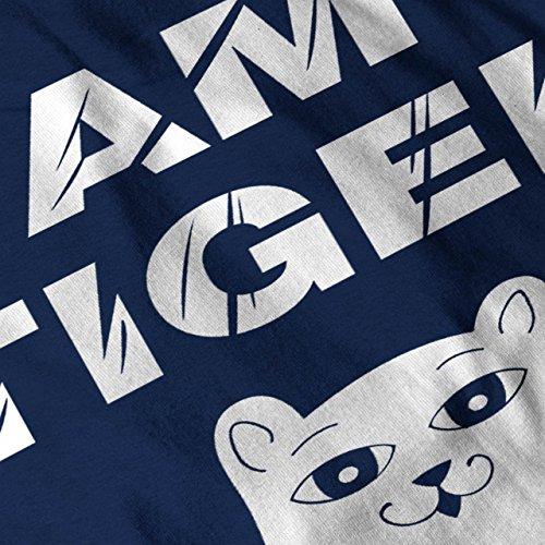 ich bin Tiger Niedlich Komisch Katze Witz Kätzchen Damen S-2XL Muskelshirt | Wellcoda Marine