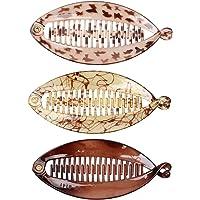 non-brand 3X Fermaglio Clip in Resina a Forma di Pesca Pettine Fermacapelli Accessorio Regalo