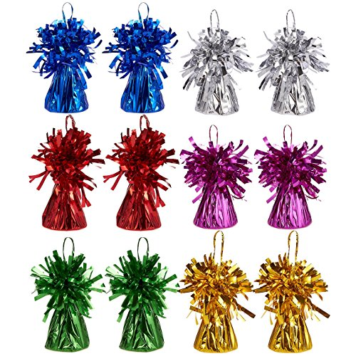 Juvale Satz von 12 Balloon Weights - Foil Tinsel für Kinder-Geburtstags-Party Supplies, Superheld 6 2,5 x 3,5 Zoll (Superheld Supplies Geburtstag Party)