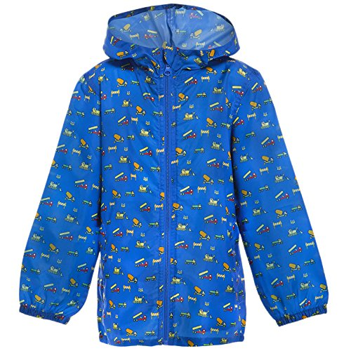 MyShoeStore Kids Children Boys Girls Rain Mac Outdoor Kagoul Kagool Cagoule KAG Raincoat Festival Showerproof Rain Coat Fishtail Festival Parka Hooded Lightweight Shower Proof Jacket