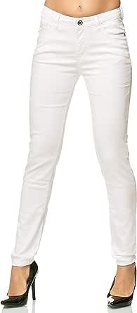 Elara Pantaloni Elasticizzati Donna | Jeans Skinny | Fascia Elastica in Vita | Slim Fit | Chunkyrayan