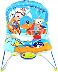 Luvlap Magic Circus Baby Bouncer with soothing vibration and Music (Multi Color)