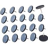Planeadores de muebles, 20 deslizadores de teflón fáciles de mover con protector de pies de uñas para suelos de madera dura (