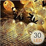Guirlande Lumineuse Ananas Piles LED, Morbuy Créatif Décoration Fée Chaîne Lumière 10/20/30LED pour Maison Fête Noël Halloween Mariage Anniversaire Chambre Jardin (3M/30LED)