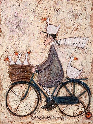 Sam Toft Leinwanddruck, Baumwolle, Mehrfarbig, 30 x 40 cm