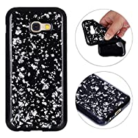 Galaxy A5 2017 Back Case, Galaxy A520 Bling Case Cover, Rosa Schleife Sparkle Bling Glitter Soft Gel TPU Rubber Bumper Phone Case Protective Shell Skin Cases Covers for Samsung A520 2017 Version