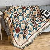AFAHXX Caterpillar Weich Sofahusse sofaüberwurf,Quaste Dekoration Sofa Überwürfe Verdickt Heavy Couch-Decke Multifunktion Mehrfachnutzung-A 160x220cm(63x87inch)