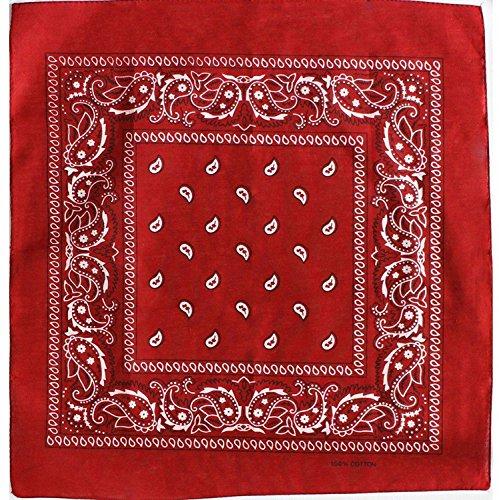 Original Bandana mit Paisley Muster in Rot 100% Baumwolle
