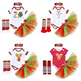 Halloween 4PCS Newborn Infant Baby Toddlers Girls My 1st Halloween Pumpkin Skull Rompers Tutu Blowknot Party Skirt with Headband Leg Warmer Children Tulle Outfits Photo Shoot Costume