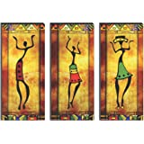 SAF 6MM MDF Modern Art Dancing Lady Digital Reprint SELF Installation Painting (Synthetic, 38 cm x 45 cm, Set of 3,) SANFJ-SE