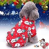 Idefair Hundepullover mit Schneeflocken-Motiv, für Kleine und mittelgroße Hunde/Katzen, Größe S, M, L, XL