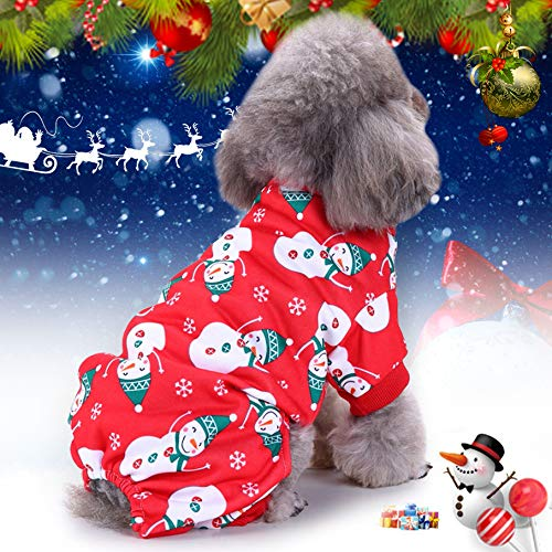 Idefair Christmas Pet Custome Cat Dog Clothes,Snowflake Puppy Hoodie Dog Coat Sweater Jacket,Pet Dress Up for Small Medium Large Dog Cat Kitty S M L XL (M)