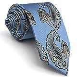 Shlax&Wing Hombre Seda Corbatas Para Azul Cachemir La Moda Extra largo