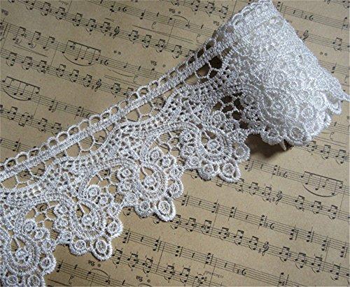 4,6 m Bordure en dentelle Fleurs Tassel Venice Frange DIY Applique à coudre Craft mariée mariage Applique Cut Band Couture 10 cm
