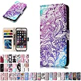 LA-Otter Coque Apple iPhone 5 5S Se Dentelle Violet Flip Case Housse Etui à Rabat...