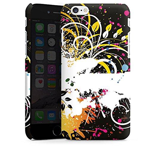Apple iPhone X Silikon Hülle Case Schutzhülle Ornament Flower Bunt Premium Case matt