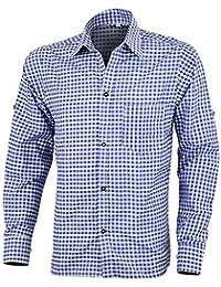 Mens Bavarian Green Checked Classic Style Lederhosen Shirts