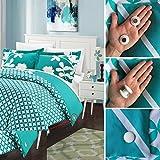 #10: Duvet Dotz - Duvet/Comforter Strong Magnetic Fasteners (Comforter Grips/Duvet Cover Clips/Magnetic Duvet Clip/Duvet Donuts (1 Set or 4 - Enough for 1 Bed))