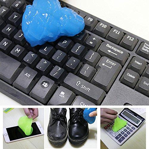 Magischer Tastatur-Reiniger für PCs/Laptops, biegsames, klebriges Gelkissen, Staubentferner, 3 Stück (Tastatur-reiniger Klebrige)
