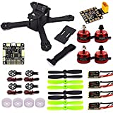 LHI X210 Carbon Fiber FPV Race Quadcopter Frame (4MM) +DX2205 2300KV Brushless Motor+ Littlebee 20A Mini ESC+F3 Flight Controller Board Cleaflight 6DOF+LED Board+Motor Guard Protector Caps