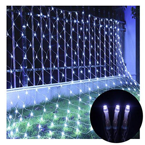 Net Mesh Fairy String dekorative Lichter,Suniness 9.8ft x 6.6ft 208 LEDs 8 Modi Wasserdicht mit anschließbarem Schwanzstecker für Baum-Wrap Indoor Outdoor Hochzeit Weihnachtsfeier Garten Zimmer (Weiß) (Weihnachten-mesh Für Bäume)