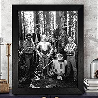 Star Wars Cast Signiert Autogramme 8x 10Foto Nachdruck RP PP [Peter Mayhew, Harrison Ford, Carrie Fisher, Anthony Daniels & Mark Hamill]