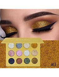 Pallette Fards à Paupière, Moonuy High pigment chatoyantes Glitter Eye Shadow palette de poudre Palette de Fard à Paupière Waterproof Durable Matte Shimmer fard à paupières maquillage (A)