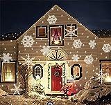 KRISMILEN Paesaggio illuminazione fiocco di neve Faretto impermeabile decorativo festa di compleanno