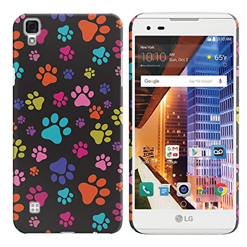 LG Tribute HD ls676X Style 12,7cm L53B l56vl Fall, fincibo Back Cover Hartschale Kunststoff Protector Case Stylisches Design Holz Vintage American USA Flagge, Multicolor Paws Dog Flagge Protector Case