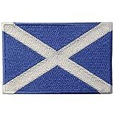 Schottland Flagge Emblem Schottisch Bestickter Aufnäher zum Aufbügeln / Annähen