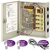 CCTV Caja de alimentación, 5un fusible de distribución de canal de zoter 4puerto CA 110-240V a DC 12V para Cámara de vigilancia