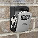 Wall mounted key storage box security 4 digit combination lock for sharing your keys securely