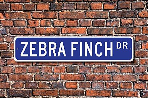 Metall Stree Zebra Finch Geschenk Finch Schild Lover Finch Decor SM Rot Rechnung gestellt Bird Aluminium Wand Poster Yard Zaun Schild