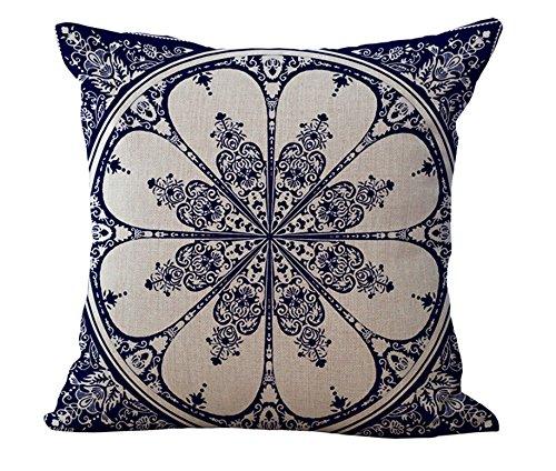 MAYUAN520 Zierkissen Pop Blau Und Weiß Porzellan Emoji Throwkissen Dekorative Massagegerät Vintage Kissen Decken Bettwäsche Diy Home Decor Geschenk