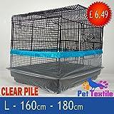 Vogel Käfig Samenauffangbehälter Guard Rock Style Flor Stoff–Blau–Groß–180cm