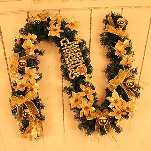2,7 m bastones de Navidad cartas arcos adornos de Navidad,sección áurea