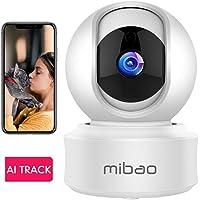 WLAN IP Kamera Überwachungskamera 1080P,IP Kamera WiFi Mibao Nachtsicht 2 Wege-Audio Smart,Home Kamera/Haustier-Baby Kamera IP Kamera,App Steuerung unterstützt,Remote Alarm