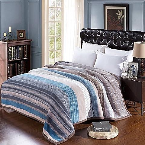 BDUK Pile coperte specchio caldo traspirante fitta coltre soggiorno coperte opacaLo stile200*230 cm/9Jin