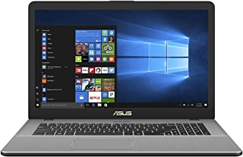 ASUS VivoBook Pro 17 N705UD (90NB0GA1-M00370) 43,9 cm (17,3 Zoll, Full-HD, matt) Laptop (Intel Core i7-7500U, 8 GB RAM, 256GB SSD + 1TB, NVIDIA GTX1050 (2GB), Windows 10) grau metall