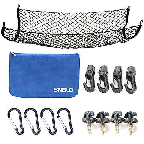 Preisvergleich Produktbild Gepäcknetz für LKW-Bett oder Trunk, 41x25 Zoll elastischem Nylon Mesh Universal hinten Gepäckorganisator Net, mit Bonus Kostenlose Haken durch SNBLO