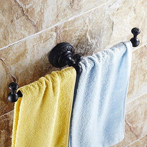 FUFU Barres de Serviette Tous Copper Black Bronze Single Barre de serviette de bar Porte-serviette de style européen Salle de bains Accessoires de salle de bains