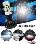 FABTEC Universal bike RTD LED Headlight Bulb with High Beam & Low Beam Waterproof Ultra Bright White Light for All Bikes