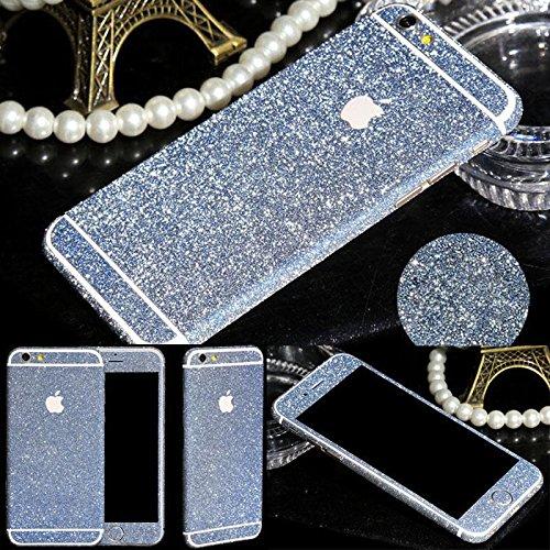 Fashionfort-integrale in vinile, decalcomania, Cover adesiva per iPhone 4, 4s, 5, 5s, 5c, 6, 6 Plus/6s, argento, iPhone 6/6s blu